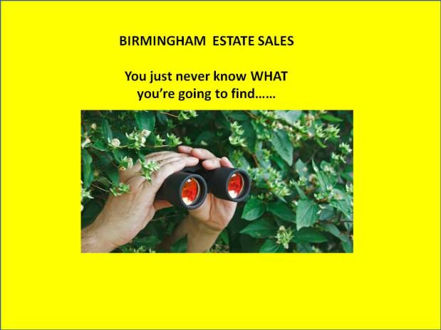 BIRMINGHAM ESTATE SALES is by RUFFNER PARK! Join us!