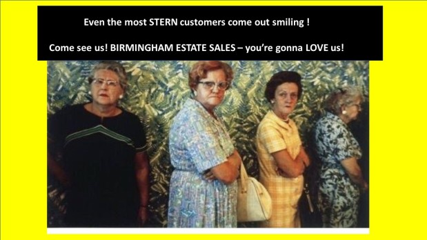 50% OFF! LAST DAY! BIRMINGHAM ESTATE SALES is in DECATUR for 2 days! Join us!
