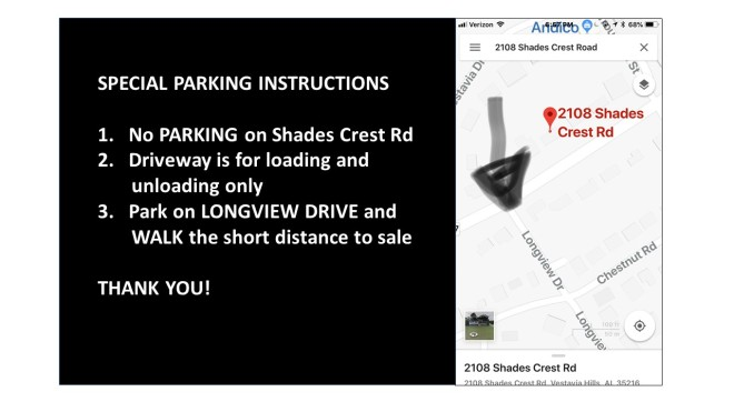 no parking on shades crest