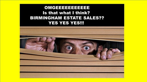 50% off, LAST DAY!! BIRMINGHAM ESTATE SALES is in MTN BROOK – Again? Yes!