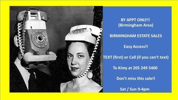 BIRMINGHAM ESTATE SALES – By Appt Only! Easy Access! Birminghamarea!!!