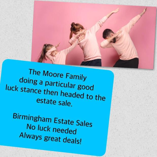 50% OFF NOW!  BIRMINGHAM ESTATE SALES is in MCCALLA for 3 days- Joinus!