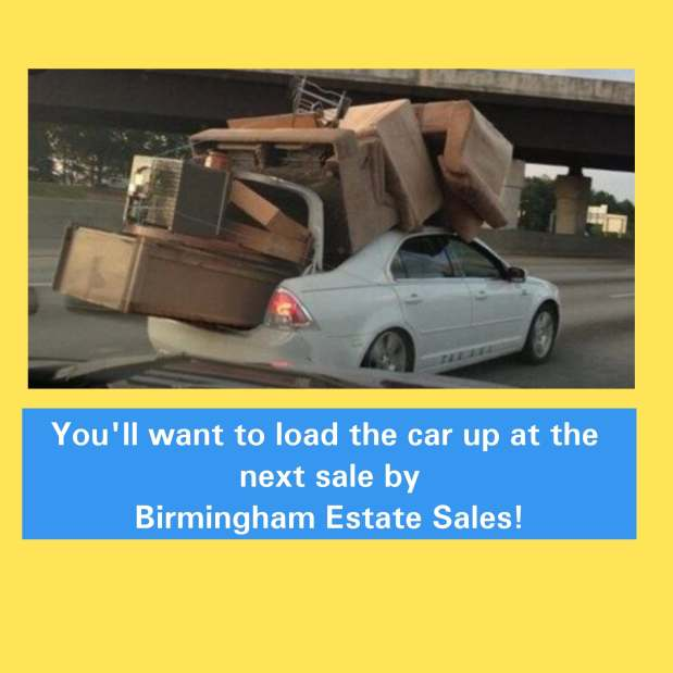 50% OFF, LAST DAY!!!  BIRMINGHAM ESTATE SALES is in VESTAVIA for 4 days-JOIN US for a fantastic picking sale!