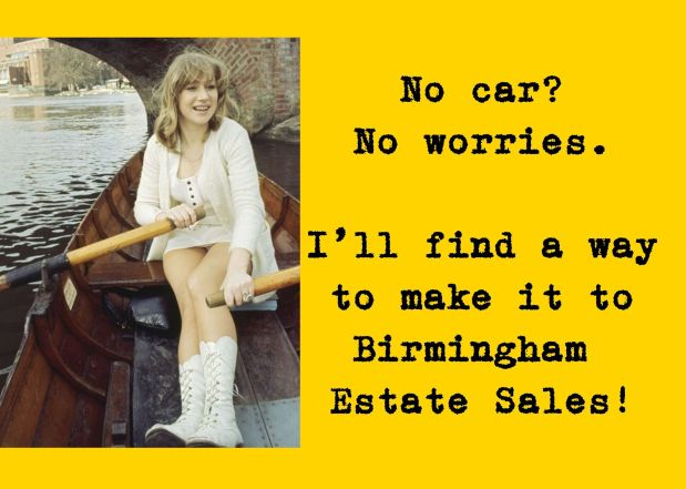 50% OFF NOW! BIRMINGHAM ESTATE SALES is in SYLACAUGA for 3 days! Joinus!