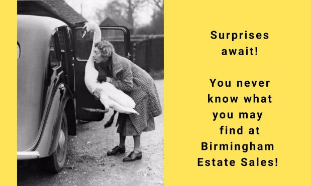 BIRMINGHAM ESTATE SALES is in BIRMINGHAM for 2 days- Thursday & Friday!